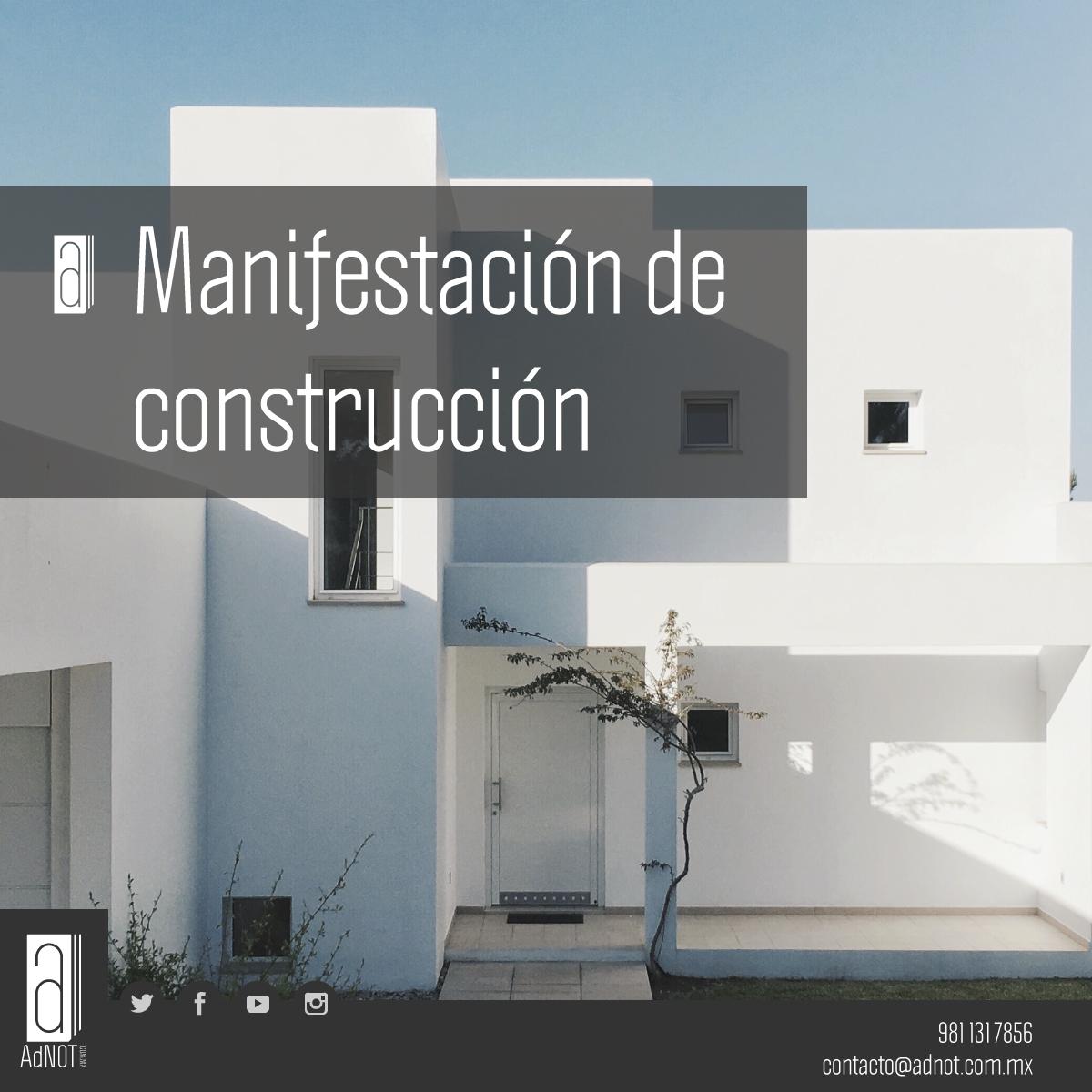 #Trámites: Manifestación de construcción