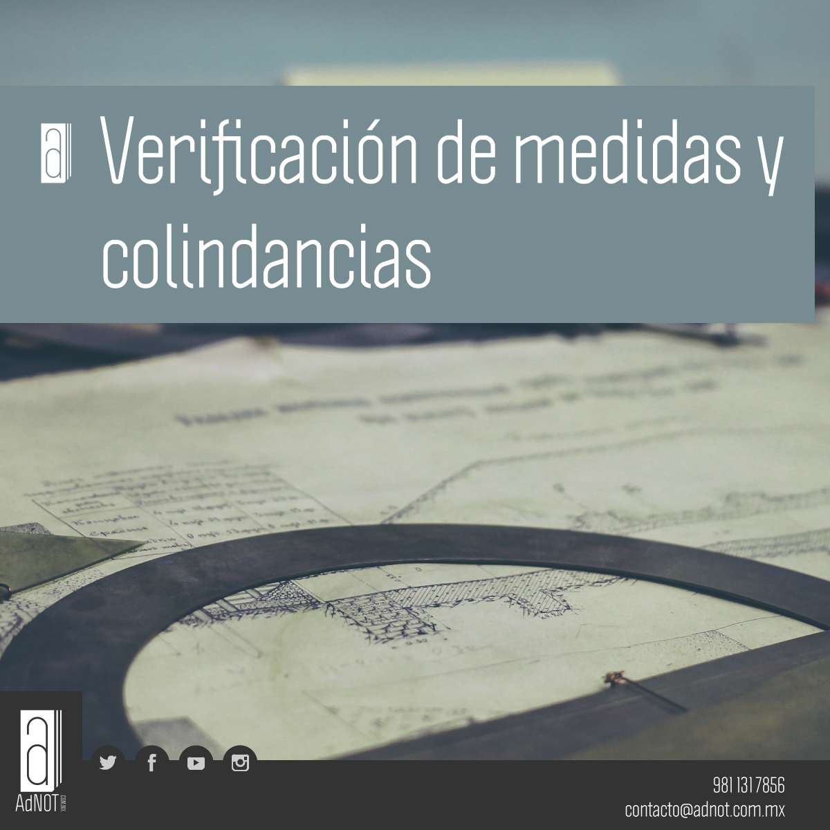 #Trámites: Verificación de medidas y colindancias